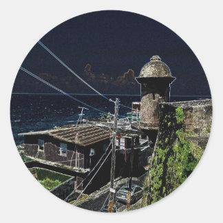 La Perla, Old San Juan Round Sticker