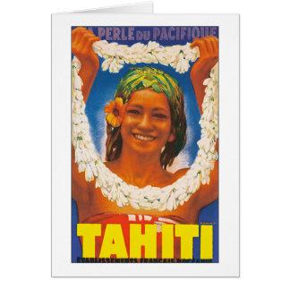 ~ La Perle du Pacifique de Tahití Tarjeta De Felicitación