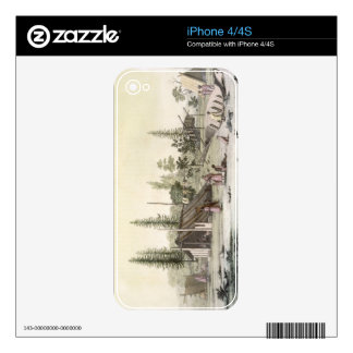 La Perouse at Port Francesci (colour engraving) Decal For iPhone 4
