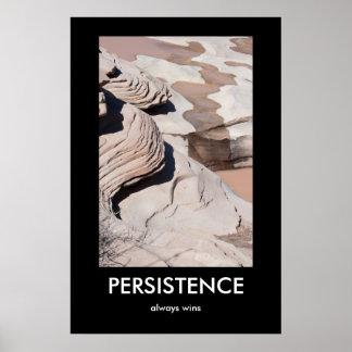La PERSISTENCIA, gana siempre el poster de Demotiv Póster