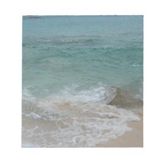 La persona de Bermudas agita serie Libreta Para Notas