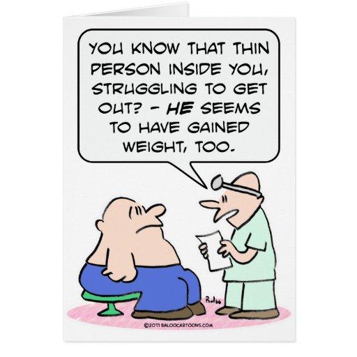 La persona fina en individuo gordo ha ganado el pe felicitacion