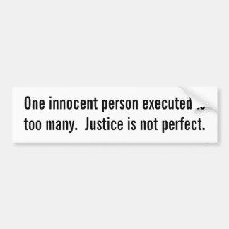 La persona inocente ejecutó a la pegatina para el  pegatina de parachoque