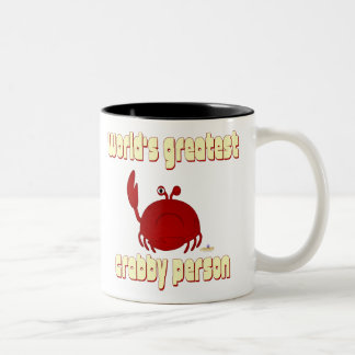 La persona más grande del mundo rojo del cangrejo  taza de dos tonos