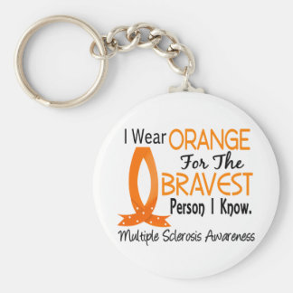 La persona más valiente sé esclerosis múltiple llavero