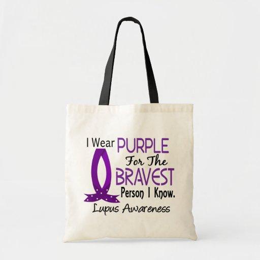 La persona más valiente sé lupus bolsa tela barata