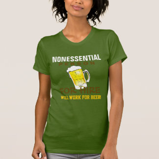 La persona no esencial - trabajará para la cerveza playera