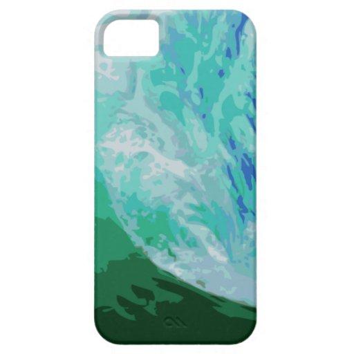 La persona que practica surf agita el caso de funda para iPhone SE/5/5s