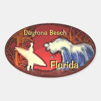 La persona que practica surf de Daytona Beach la Pegatina Ovalada