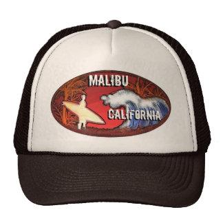 La persona que practica surf de Malibu California