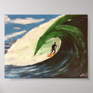 La persona que practica surf que practica surf el  póster