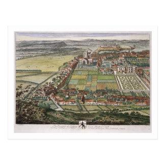 La perspectiva de Nottingham del este grabada Postales