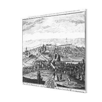 La perspectiva del este de la ciudad de Winchester Lona Estirada Galerías