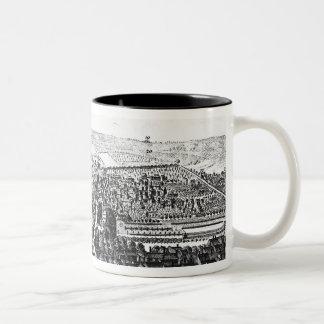 La perspectiva del este de la ciudad de Winchester Tazas