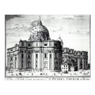La perspectiva del este del norte de la iglesia de postal