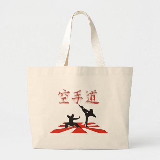 La perspectiva del karate bolsa tela grande