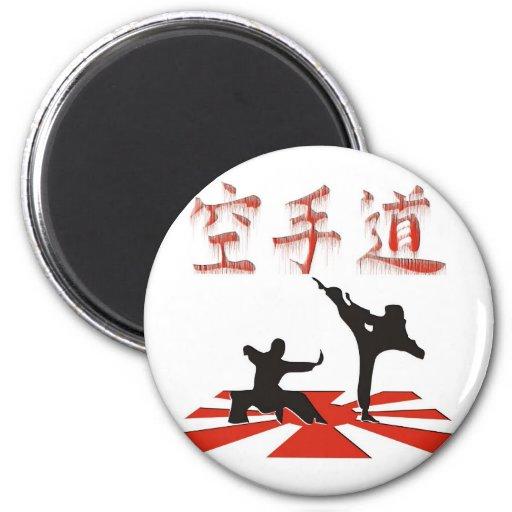 La perspectiva del karate imán redondo 5 cm