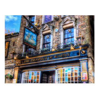 La perspectiva del Pub Londres de Whitby Tarjetas Postales