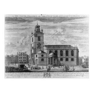 La perspectiva del sur de la iglesia del St. Tarjeta Postal