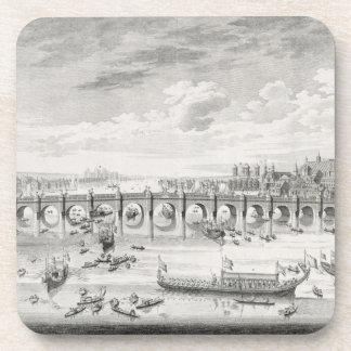 La perspectiva suroriental del puente de Westminst Posavasos De Bebidas