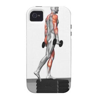 La pesa de gimnasia intensifica 3 vibe iPhone 4 fundas