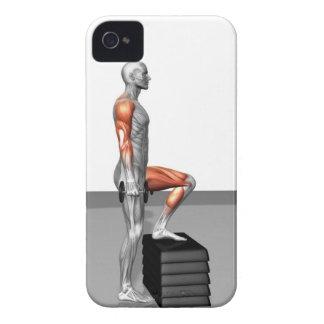 La pesa de gimnasia intensifica iPhone 4 Case-Mate coberturas