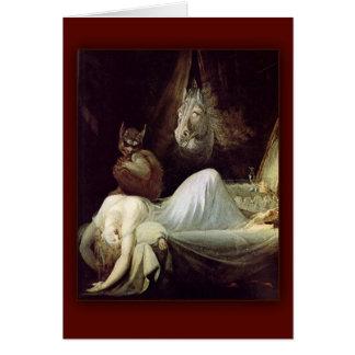 La pesadilla de Henry Fuseli, 1781 Felicitación