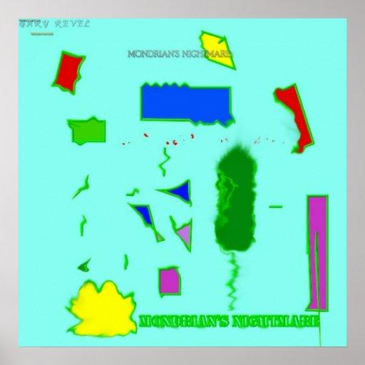 La pesadilla de Mondrian Poster