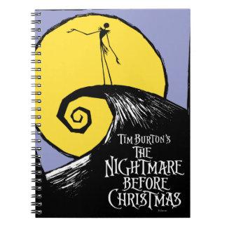 La pesadilla de Tim Burton antes del navidad Libreta