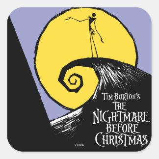 La pesadilla de Tim Burton antes del navidad Colcomanias Cuadradas