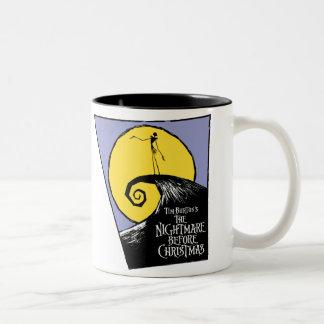 La pesadilla de Tim Burton antes del navidad Taza De Dos Tonos