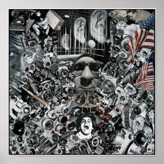 """La """"pesadilla del paranoico"""" archival póster"""