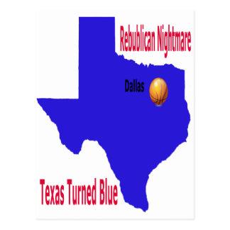 La pesadilla republicana Tejas da vuelta al azul Postal