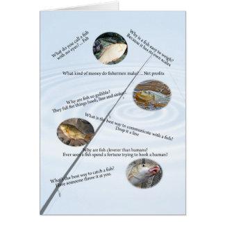 La pesca bromea tarjeta número 1