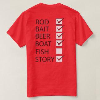 La pesca comprueba rojo divertido para hombre de poleras