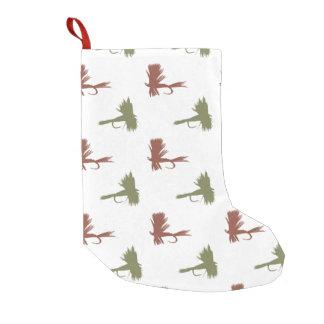 La pesca con mosca engaña el modelo calcetín de navidad pequeño