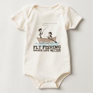 La pesca con mosca hace vida mejor body para bebé