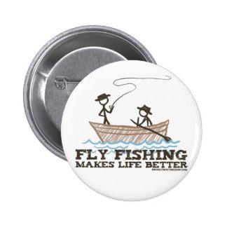 La pesca con mosca hace vida mejor pin