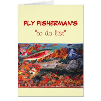 """La pesca con mosca """"para hacer"""" la tarjeta """"mosca"""