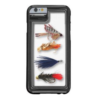 La pesca con mosca vuela - la caja realista funda de iPhone 6 barely there
