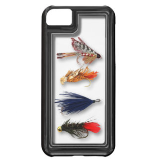 La pesca con mosca vuela - la caja realista funda para iPhone 5C