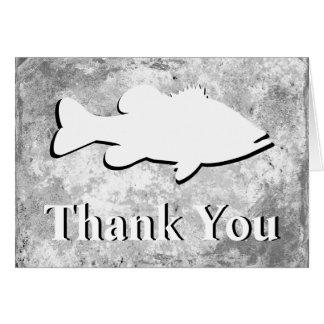 """La pesca de la lubina """"le agradece"""" - tarjetón"""