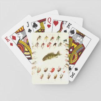 La pesca de la lubina vuela 1882 baraja de cartas