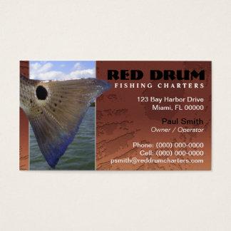 La pesca de los salmones carga la tarjeta de tarjetas de visita