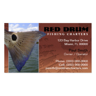 La pesca de los salmones carga la tarjeta de visit tarjetas de visita