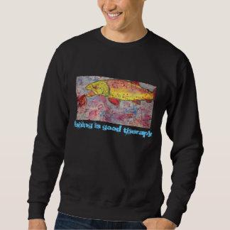 la pesca es buena terapia suéter