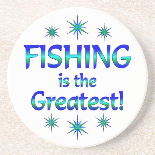 La pesca es la más grande posavasos personalizados
