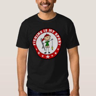La pesca es mi camiseta del deporte