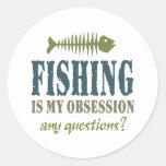 La pesca es mi obsesión etiqueta