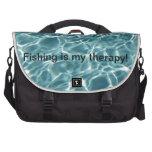 ¡La pesca es mi terapia! Bolsa De Ordenador